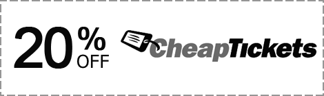 Промокод CheapTickets - скидка 20%